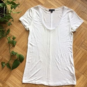 GAP mesh detail T-shirt with center seam down back